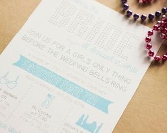 Bachelorette Invitation / Bling / Printable