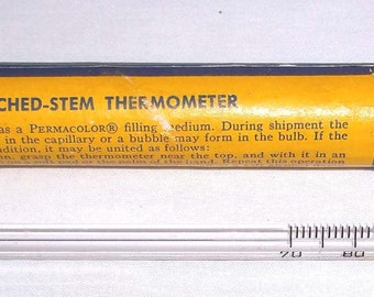 Vintage Taylor Etched Stem Thermometer made for Eastman Kodak