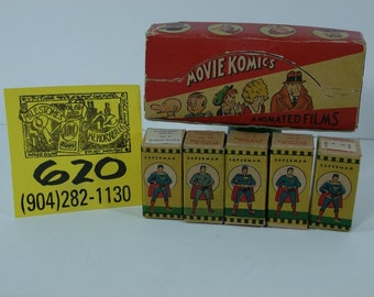 1947 Acme Toys Movie Komics Superman film strips,boxes,display box