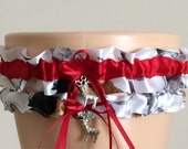 True Timber Snowfall Red Camouflage Bridal Wedding Garter Set, Bridal Garter Set, Camo Garter, Keepsake Garter