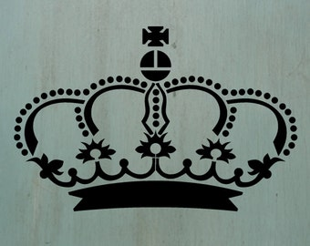 Crown1  - Vintage looking stencil