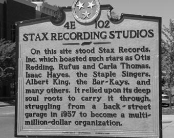 Stax Records Landmark Marker, Music Inspired Photographs, Soul Music, Fine Art Photography