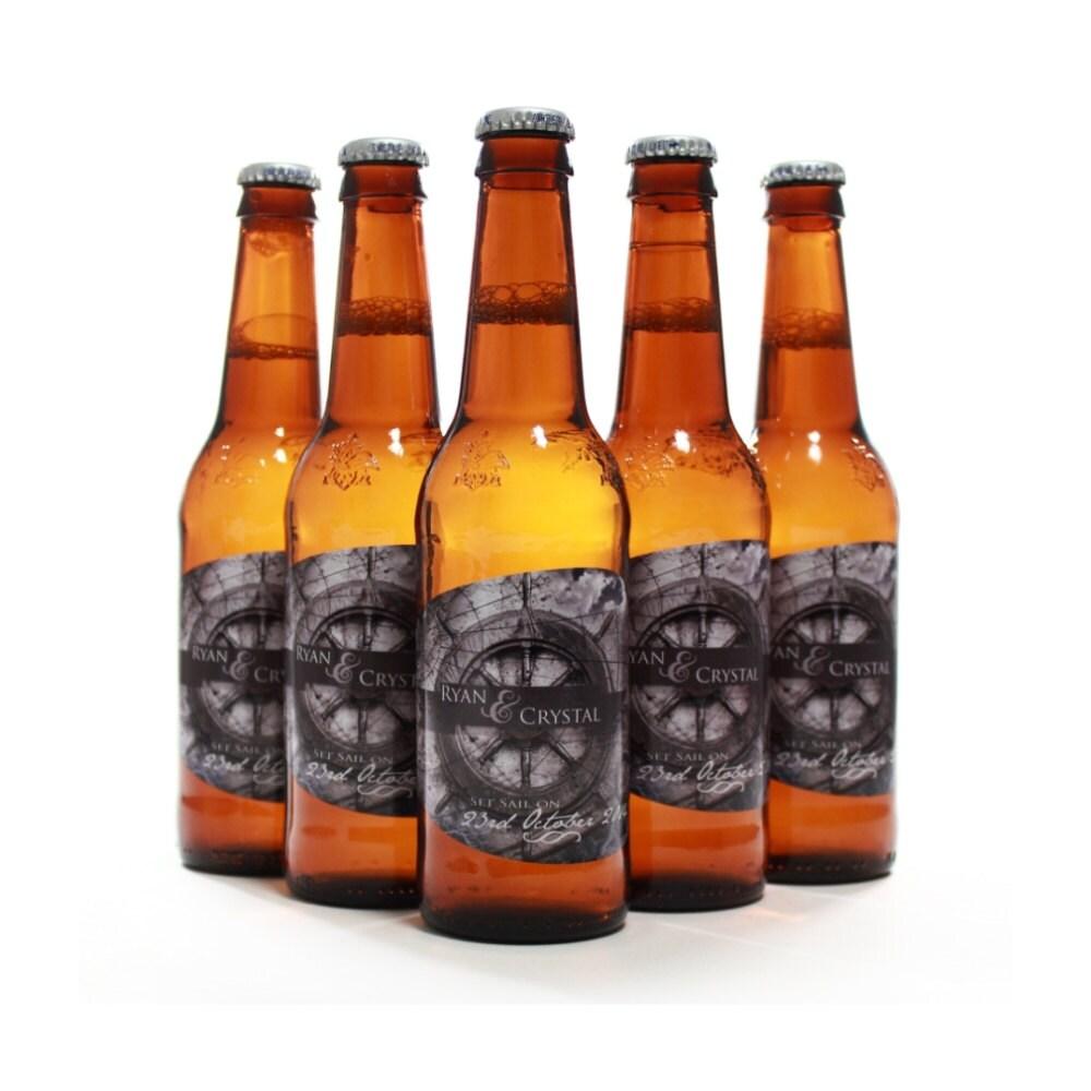 Custom Beer Bottle Labels Personalized Wedding By: Nautical Themed Wedding Custom Beer Bottle Label