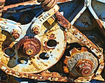 Industrial Art Rusted Metal Gears Abstract Fine Art Photograph