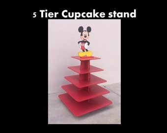 Cupcake Stand With Eiffel Tower Topper By Craftszigzag On Etsy