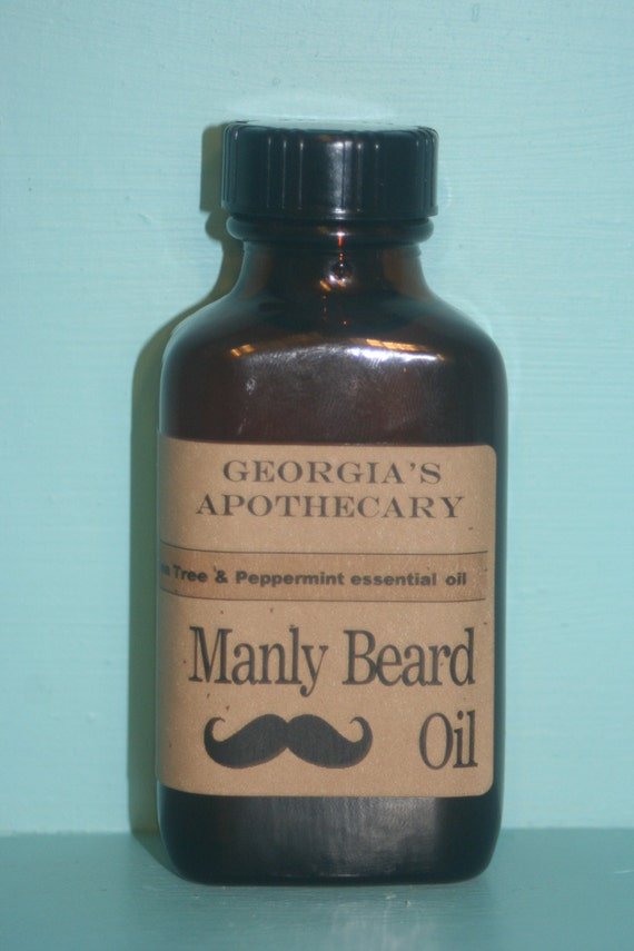 Manly Beard Oil with Organic oils Cedarwood & Sage Essential oil 3 ozs