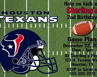 Houston Texans Football Invitations OR Thank you cards