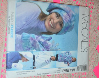 McCall's 4666 Misses Unlined Jackets, Hats and Mitts  Sewing Pattern - UNCUT -Sizes XSmall Small Medium