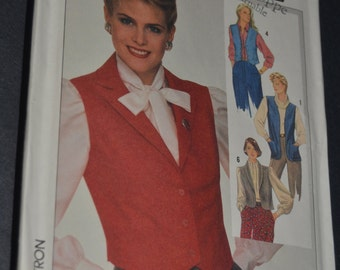 Simplicity7669 Misses  Set of Lined and Unlined Vests Sewing Pattern - UNCUT - Size 16
