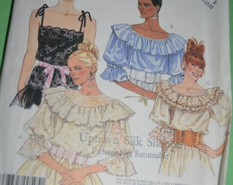 McCalls 3431 Misses Blouses and Camisole Sewing Pattern - UNCUT - Size 8 10 12