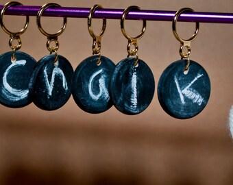 Chalk Board Stitch Markers (Set of 5)