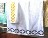 Dish Towel Kit,craft kit, block print kit, DIY kit, flour sack, tea towels