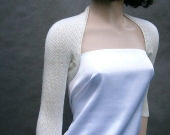 Alice II - (Not only) Wedding bolero, size - XS/S/M, Ivory, 1/2 sleeves. Bridal or bridesmaid's bolero.