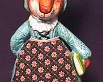 1950s Beatrix Potter Teacher Rabbit Chalkware Bank