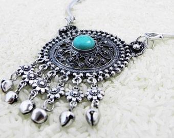 Vipassana Tibetan Turquoise Medallion