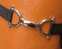 matureFETISH JOCK STRAP featuring a chrome/silver inter-locking side closure for easy access!