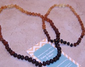 Raw Baltic Amber Rainbow Teething Necklace