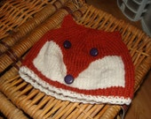 Baby Fox Hat 9-12 months size