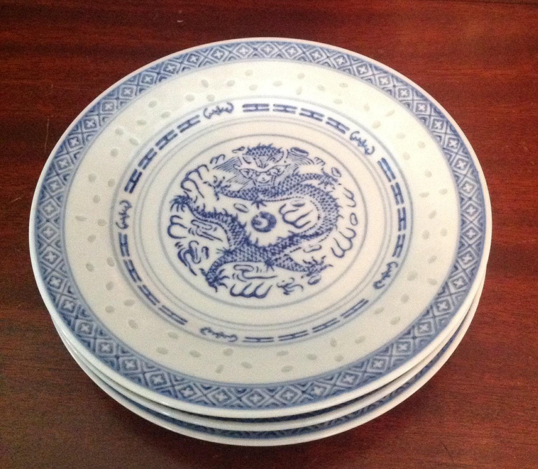 bleu et blanc riz grain dragon vaisselle porcelaine salade. Black Bedroom Furniture Sets. Home Design Ideas