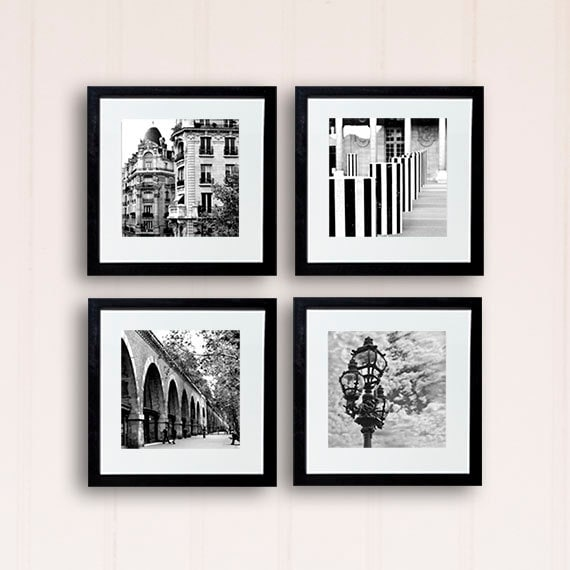 Paris photography black and white photography wall by for Black and white paris wall mural