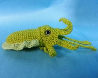 Cuttlefish w/ Tentacles Realistic Amigurumi Crochet Pattern PDF