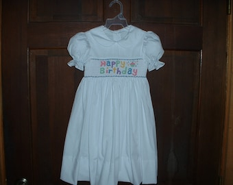 White smocked dress  Etsy