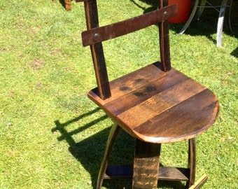 "24"" Whiskey barrel swivel stool"