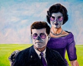"John F Kennedy and Jackie Kennedy,  Dia de los Muertos 8""x10"" Photo Reproduction"