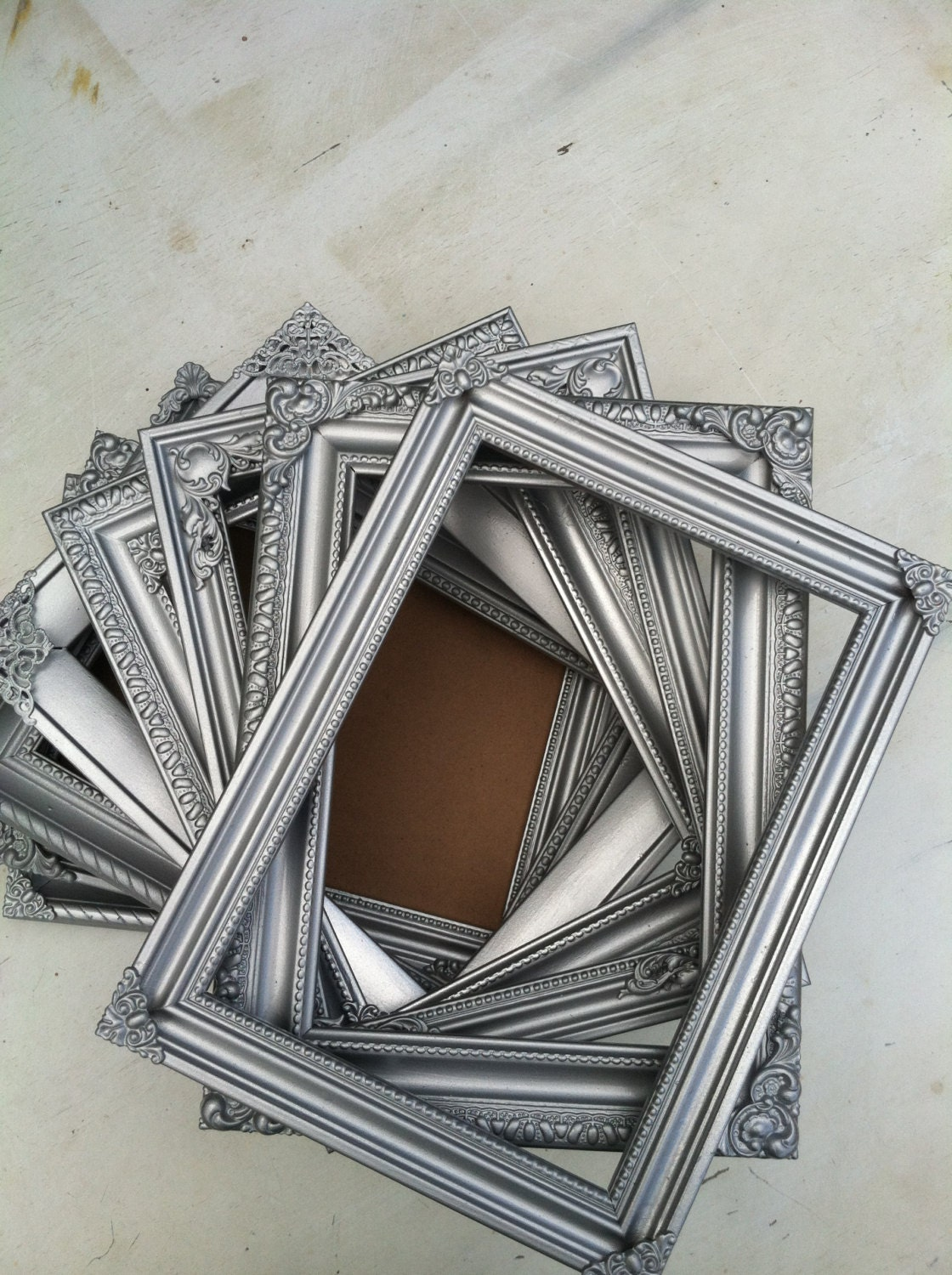 silver table number frames wedding frames set of by thepaintedldy