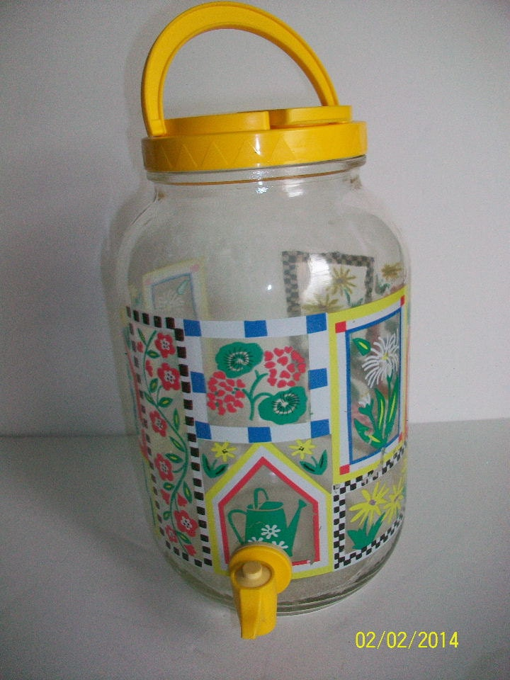 Sun Tea Jar With Spigot And Carrying Handle One Gallon