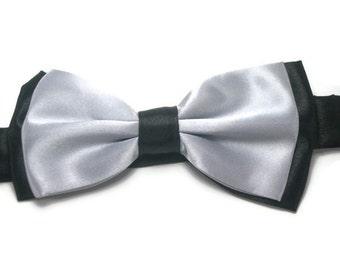 Light grey and black  bowtie