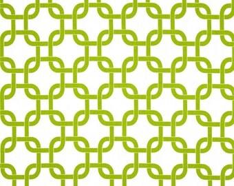 1 yard Premier Prints Gotcha White/Chartreuse
