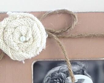 ADD ON Jute Bow w/ White Flower