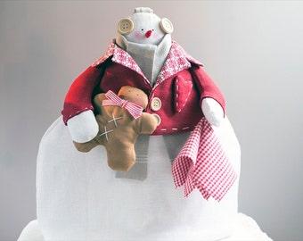 Tilda  Vintage Handicrafts Christmas Tea Cosy Snowman Gingerbread