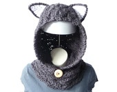 CROCHET PATTERN Cat Cowl Hooded Cowl Pattern Hooded Scarf Crochet Hood Girls Womens Crochet Baby Toddler Child Teen Adult Halloween Costume