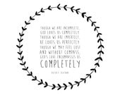 Typographic Art Print - LDS Quote - Archival Art Print