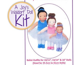 Joy's Waldorf Dolls Ballet Outfits Kit Sale for Waldorf Dolls