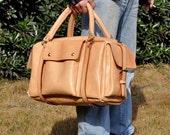 Weekender bag/Large leather Suitcase/luggage bag/travel bag  Valentine's Day