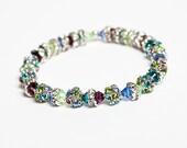OOAK Crystal Ball Bracelet, Girls' Jewelry, Stretchy Bracelet, Fun Accessories, Funky Jewelry