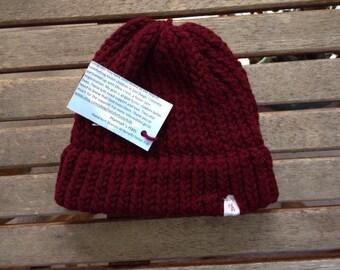 Hannah's Hats: Maroon Hat
