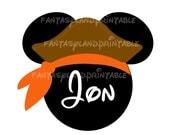 Halloween Pirate Mickey Mouse MGM DIY Printable Iron Transfer family  Disney trip Family shirt Vacation Disney Cruise Fantasy Dream