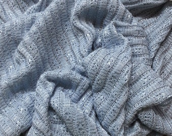 Light Blue Nylon Sweater Knit Fabric by the Yard -  Photography Backdrop