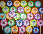 30 ct Bubble guppies personalized cupcake toppers birthday party favors decoration