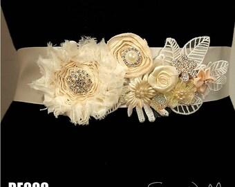 Bridal Sash belt, Sash belt, Wedding Sash Belt, Wedding Belt, Wedding Sash, Flower Sash, bridal sash, Woodland Wedding, Rustic Sash