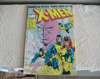 Vintage X-Men Comic Book Index Marvel 1985 Comics Series Retro Reading