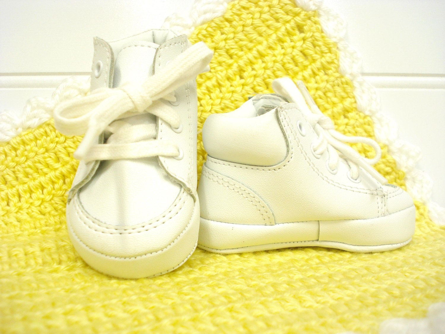 vintage baby shoes baby tennis shoes white high top shoes