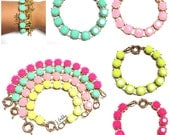 Mini Faceted Bead Bracelet - 4 Colors!