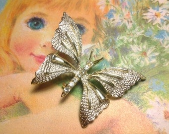vintage antique costume jewelry brooch pin butterfly