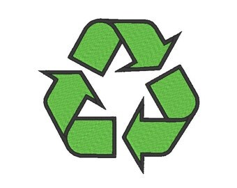 Recycle Symbol Embroidery Machine Design
