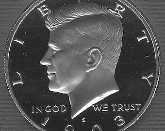 1993 S Proof Collectible Kennedy Half Dollar